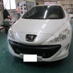 プジョー308CCの天井張り替え(剥がれ・色替え)|愛知県名古屋市 M様のお車の内装修理
